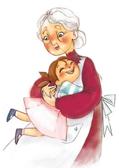 Con Linu Una Nonna Da Colorare Giochiamo E Impariamo